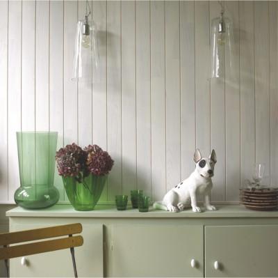 Lambris brossé pin blanc LOFT verni 10x90x2500mm DMBP DISTRI MAT. BOIS-PANNEAUX