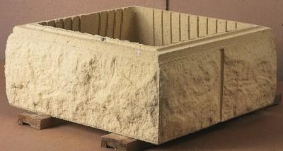 Élément de pilier BOSSELE 30x30x16,7cm ton pierre