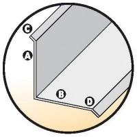 Couvre-joint angle 40x40mm aluminium brut 2m VPI VICAT PRODUITS INDUSTRIELS