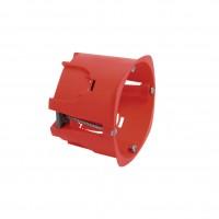 Boîte d'encastrement ronde cloison sèche rouge DEBFLEX SA