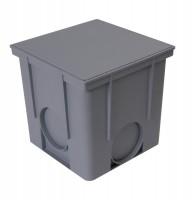 Couvercle piéton gris regard 25x25x25cm