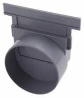 Fond de naissance diamètre 110mm pour caniveau 10BC RACCORDS & PLASTIQUES NICOLL