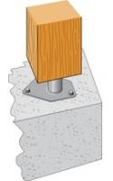 Pied de poteau pour angle 130x150mm épaisseur 4mm SIMPSON