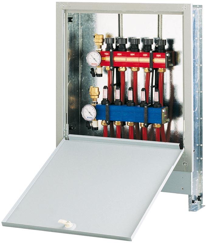 Coffret d 39 encastrement 7 10 circuits rehau chauffage cran g vrier 74960 d stockage habitat for Plancher chauffant rehau