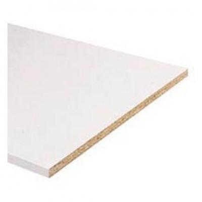 Tablette mélaminé blanche 18x600mm 2,50m