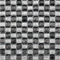 Pâte de verre et galets black mosaïque 32x32cm BARWOLF