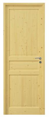 Bloc-porte épicéa LOBELI 8 carreaux huisserie 72 recouvrement pêne dormant demi-tour à vitrer 83 gauche DMBP DISTRI MAT. BOIS-PANNEAUX