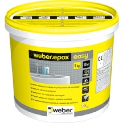 Colle et joint WEBER epoxy easy noir 5kg WEBER