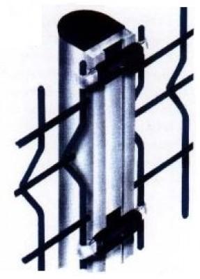 Poteau Alizé aluminium gris 55x65x1500mm VERMIGLI SASU