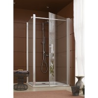 Porte de douche pivotante Jazz à ouverture totale LEDA