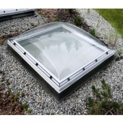Fen tre coupole pour toit plat 80x80cm avec protection - Fenetre coupole pour toit plat ...