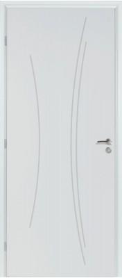 Bloc-porte TH2 Kaori BBC prépeint huisserie 74 Néolys à recouvrement S3P 73 droite RIGHINI SAS