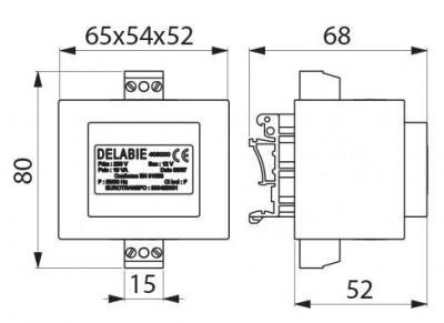 Transformateur Tempomatic 230/12V DELABIE