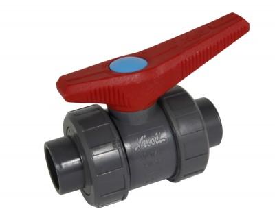 Vanne à bille à coller diamètre 20mm avec joint NBR H2O NICOLL
