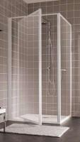 Paroi de douche ATOUT 2 pivotante axce excentré 80cm verre granité LEDA FRANCE