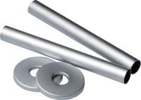 Kit caches tubes entraxe 50mm longueur 160mm blanc