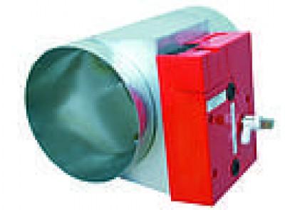 Clapet coupe feu circulaire 2 heures 500 PA dimension 125mm UNELVENT