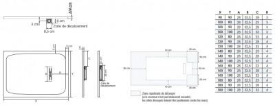 Receveur KINEROCK sable 160x90cm BLANC