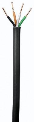 Câble industriel rigide U1000 RO2V 4 G 2,5mm² noir au mètre NEXANS France