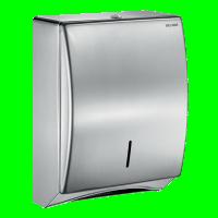 Distributeur feuille (>400) papier essuie-main inox avec clés