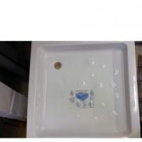 Receveur de douche grès à encastrer 80x80cm blanc SULLY