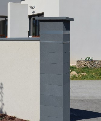 Kit pillier platinum dark insert damier 39x39cm WESER