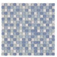 PNA marbre blanc verre bleu mosaïque 30x30cm ARTE ONE