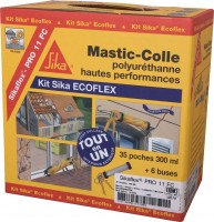 Kit SIKAFLEX 11FC Ecoflex marron (35) SIKA