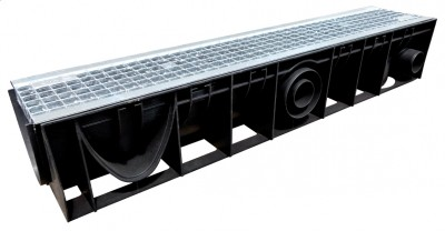Caniveau ellipse 150 + grille galvanisée B125 STORA DRAIN