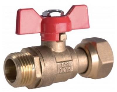Mini-vanne collecteur mâle-femelle 15x21mm