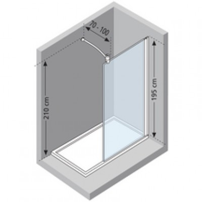 paroi de douche lunes h fixe 110 verre tremp silver. Black Bedroom Furniture Sets. Home Design Ideas