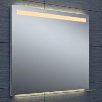 Miroir DUBAI éclairage LED avec tablette en verre 90x80cm