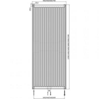 radiateur panneau 6 connexions vertical type 22 habill hauteur 2000mm largeur 400mm puissance. Black Bedroom Furniture Sets. Home Design Ideas