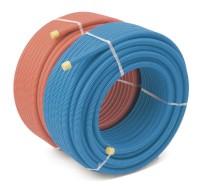 Tube PER prégainé diamètre 25mm 50 mètres bleu
