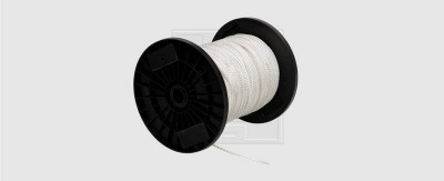 Corde nylon blanc 4mm SWG FRANCE