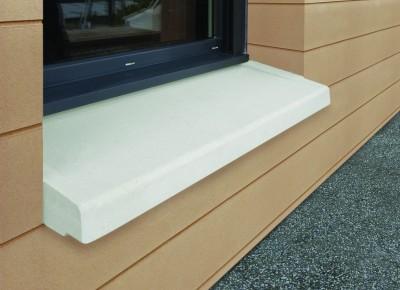 Appui de fenêtre en béton parassismique 35cm, tableau 040/50 blanc WESER