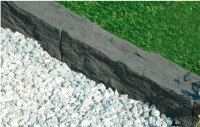 Bordure auray 50x9x10cm gris anthracite WESER