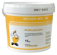 WESER mortier mix JM 15kg blanc
