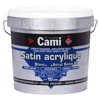 Peinture satin acrylique 4 litres blanc MADER CAMI
