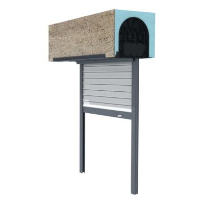 Volet dans un coffre polystyrène: tablier PVC 60 hauteur 2150mm x Largeur 900mm EVENO FERMETURES