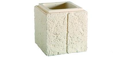 Elément de pilier RENAISSANCE 30cm ton pierre, 30x30x30cm ORSOL