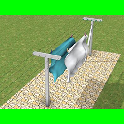 Poteau béton à linge en T 2.50m de longueur THEBAULT ROBERT SAS