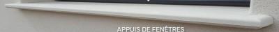Appui Decostyl blanc 35 coupe de 2400mm cote tableau MSEA