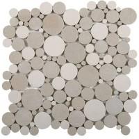 BATIO 30x30cm rond gris clair BATI ORIENT IMPORT