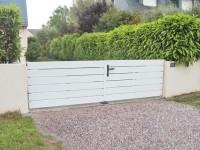 Portail PVC CAHOTIER 1390x3500mm CLODELYS