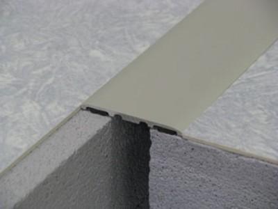 Couvre-joint sol adhesif aluminium anodisé naturel 120mm 3m DINAC GPI