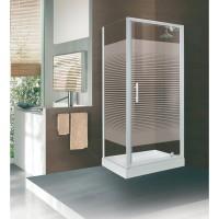 Porte pivotante CONCERTO 76-82 verre transparent