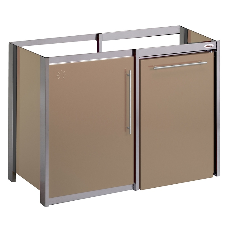 Meuble m talline m tal thermolaqu 120x60 1 porte for Meuble 3 portes moderna