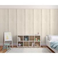 Plaque plâtre décorative BD 13x2600x600mm IKEBANA asdhésif lot de 2 blanc