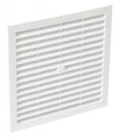 Grille de ventilation à visser PVC blanc 201x201mm sans moustiquaire NICOLL